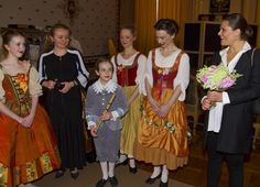 Princess Victoria attended a representation of a dance troupe in the musical festival at the Royal Palace
