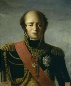 """Louis Nicolas Davout.  His prodigious talent for war along with his reputation as a stern disciplinarian, earned him the title """"The Iron Marshal"""". He is ranked along with Massena and Lannes as one of Napoleon's finest commanders. Of the other Marshals, Davout had the best relations with Ney, Nicolas Charles Oudinot and Laurent Gouvion Saint-Cyr. His best friend was possibly Charles-Étienne Gudin de La Sablonnière, one of his subordinates, who was killed in battle in 1812"""