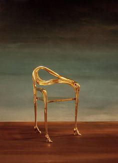 "Leda Armchair, Sculpture Inspired by Salvador Dali ""Femme á la téte rose"" 1935 8"