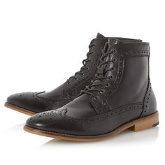 Buy Bertie Maxwells Lace-Up Brogue Boots from our Men's Shoes & Boots range at John Lewis. Free Delivery on orders over £50.