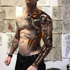 Bionic tattoo design by Jeremy Mueller