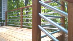 "Horizontal Railing - using 1.25"" conduit... Deck makeover"