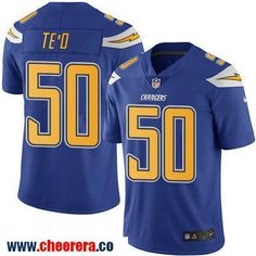 Men's San Diego Chargers #50 Manti Te'o Royal Blue 2016 Color Rush Stitched NFL Nike Limited Jersey