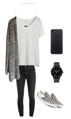 """My style"" by lizakappil on Polyvore featuring RE/DONE, Vans and Kendra Scott"