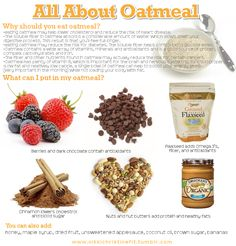 I <3 oatmeal so much! I eat a bowl with chia seeds, flax seeds, berries, sliced almonds and almond milk every morning. It also increases your milk supply if you're a nursing mom!