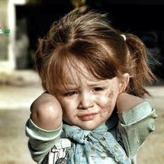 I am the beauty Syrian child of war.....as a re-pinner, this breaks my heart, so many little ones as well as big ones, in pain and fear.
