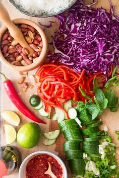 asian vermicelli salad with peanuts ingredients