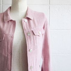Jackets with Little Pockets Botanical Dyed Cotton Pink Color-www.tanbagshop.com