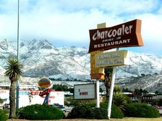 The Charcoaler, El Paso, TX, on a rare, snowy day.  This drive-thru was and probably is a lifesaver to many college students.  The long-gone Campus Queen was handy, too.  Those were the days....