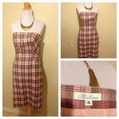 Shoshanna Plaid pink dress size 4 avail now