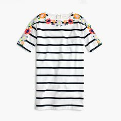 J.Crew+-+Girls'+embroidered+floral+striped+dress