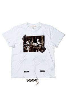 Caravaggio T-Shirt buy on SlamJamSocialism White C, Off White, Retail Concepts, Virgil Abloh, Caravaggio, Kanye West, Attitude, Mens Tops, T Shirt