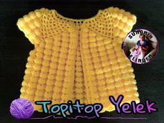 TOPİTOP YELEK YAPILIŞI (TIĞ İŞİ) - YouTube Crochet Hat Tutorial, Crochet Vest Pattern, Crochet Baby Cardigan, Knit Baby Sweaters, Crochet Fabric, Baby Girl Crochet, Crochet Baby Clothes, Crochet For Kids, Knitting Designs