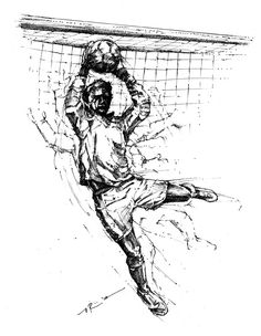 soccer goalkeeper drawing - Google Search