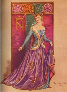 a 1926 interpretation of Medieval costume - I do love it so