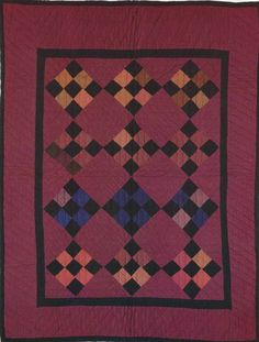 Nine-Patch Crib Quilt, 1920. Amish. Holmes Co, Ohio.