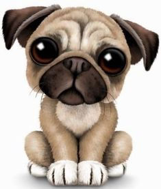 Cute Baby Pug Puppy Dog on Light Blue Pillow Cute Baby Pugs, Cute Dogs, Animals Images, Cute Animals, Pugs And Kisses, Pug Art, Pug Pictures, Pug Love, Clipart