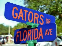 Florida Avenue & Gators Drive.  The place to be.  www.GainesvilleFloridaHomes.com  #GainesvilleFL  #UF  #Gators