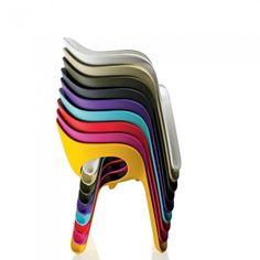 ... Designer Chairs Stackable Indoor/ Outdoor Furniture Full Plastic-GREEN ...