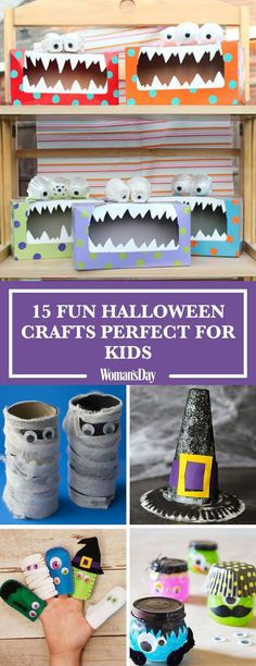 Fun and Creative Halloween Crafts for Kids - Crafts - Halloween Dulceros Halloween, Bonbon Halloween, Halloween Arts And Crafts, Halloween Activities, Holidays Halloween, Holiday Crafts, Holiday Fun, Halloween Projects For Toddlers, Preschool Halloween Crafts