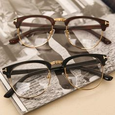 Fashion Eyeglasses Myopia Optical Computer Glasses Frame Women Men Bra – novahe glass jewelry for your face shape frames makeup glasses Round Lens Sunglasses, Cute Sunglasses, Sunglasses Women, Half Frame Glasses, Fake Glasses, Types Of Glasses Frames, Glasses Frames Trendy, Brown Glasses, Lunette Style