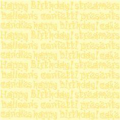 happy birthday yellow pattern