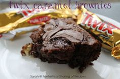 Twix Caramel Brownies - Ooey, gooey, chewy #brownies with a crunch of Twix!