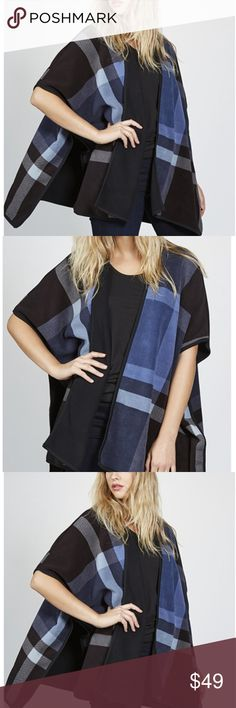"NWT Women's Open Front Poncho This elegant, reversible poncho from Denim & Co. features a bold all-over print, with a floaty, oversize design. Wear over a simple blouse or T-shirt to add texture and colour to any outfit.  100% polyester Fits XL/1X Machine washable at 30C Garment measurements: Chest: S - M: 88.9cm (35""), L - XL: 95.3cm (37.5""), 2XL: 100.3cm: (39.5""), 3XL: 110.5cm: (43.5"") Length: S - M: 81.3cm: (32""), L - XL: 83.5cm: (32.9""), 2XL: 86.4cm: (34""), 3XL: 90.8cm: (35.8"") Denim…"