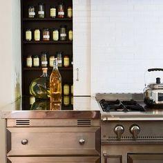 slide backsplash, kitchens, live simpli, kitchen storage, spice storage
