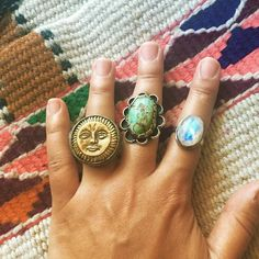 ✨Current rings available in the shop, Sun Goddess Ring, Turquoise and Moonstone. All beautiful! Use code LOVE333 for 15% off! Link in profile✨#moonstone #turquoise #sunring #rings #hippie #fashion #fashionphotographer #vintage #vintagejewelry #instagood #boho #bohooutfit #bohemian #picoftheday #art #sale #etsy #ootd #freepeople #sandiego #anthropologie #wanderlust #bohojewelry #turquoisejewelry #moonstonejewelry