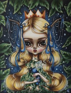 """""""Keeper of Secrets"""" by Lauren Saxton. For the VENUS all-women art exhibition at La Bodega Gallery in San Diego, CA, opening March 5th, 2016."""