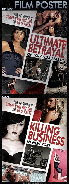 Film Poster with 5 Images — Photoshop PSD #theater #drama • Available here → https://graphicriver.net/item/film-poster-with-5-images/7783894?ref=pxcr