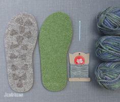 Joe's Toes - Joe's Toes Cross-over Knitted Slipper Kit UK sizes