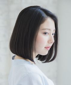 Short Black Haircuts, Haircuts Straight Hair, Haircuts For Medium Hair, Short Straight Hair, Girl Haircuts, Short Hairstyles For Women, Asian Bob Haircut, Medium Asian Hair, Medium Short Hair