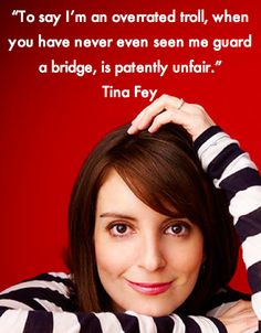 Tina Fey telling it like it is.