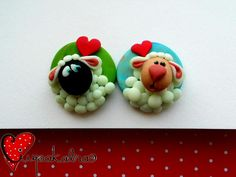 polymer clay brooch by ciupakabra