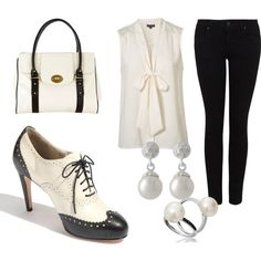 Black and White, created by nickirock.polyvore.com