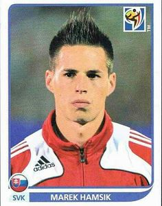 Marek Hamsik of Slovakia. 2010 World Cup Finals card. Football Stickers, World Cup Final, Fifa World Cup, Finals, South Africa, Mens Sunglasses, Baseball Cards, Classic, People