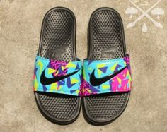 New Mens Nike Custom Galaxy Benassi Swoosh by DrippedCustomz
