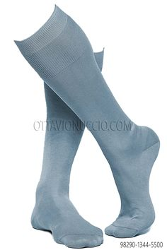 100% sky blue lisle cotton socks. #menswear #menstyle info@ottavionuccio.com