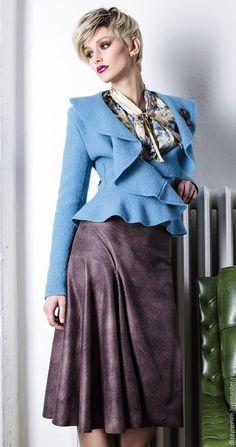 Felted jacket / Костюмы ручной работы. Ярмарка Мастеров - ручная работа. Купить Пиджак из валяной шерсти и юбка. Handmade. Комбинированный, платье в ресторан