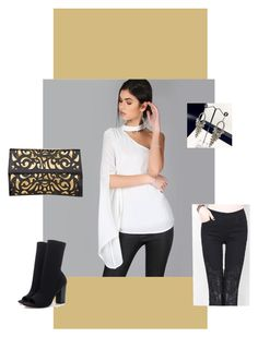 """choker blouse outfit"" by merchandizeworld on Polyvore"