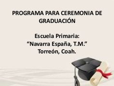 Programa para ceremonia cívica de GRADUACIÓN de primaria