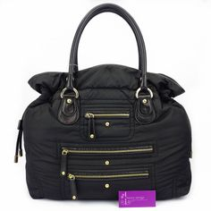 #Tod's Pashmy Bag Colour Nylon with Leather Silver Hardware Good Conditions ref.code-(KCYR-2)