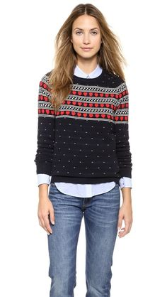 Cashmere Heart Yoke Sweater