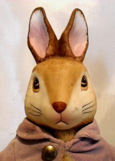 Doll Peter Rabbit Beatrix Potter, F. Warne Co.Vintage Porcelain SOLD