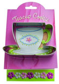 Teacup Cookie Cutter Ann Clark by susanferris123 on Etsy, $3.95