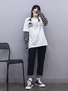 Korean Fashion Trends you can Steal – Designer Fashion Tips Set Fashion, Teen Fashion Outfits, Edgy Outfits, Korean Outfits, Grunge Outfits, Cool Outfits, Korean Girl Fashion, Ulzzang Fashion, Korean Street Fashion