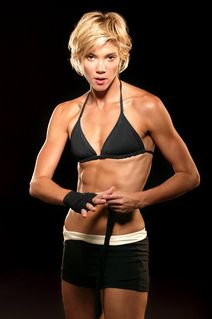 """(Jackie Warner)  """"I actually do not do crunches. This is one of my buzz phrases,  Crunches are a waste of time.Crunches are not going to get those abs. How you get those abs are actually lifting with a big muscle group such as chest, back, legs and butt. The more muscle that you have on your frame, the more fat you literally lose or shrink.    The only way to truly get shredded is to have a pretty balanced diet with a nice balance of cardio, but most importantly, weight lifting."""""""