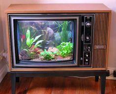 Console tv sets... we were so happy when  the black n white tv finally died yeah